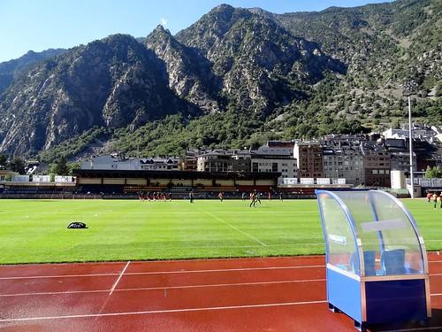 Andorran Super Cup at Estadi Comunal d'Andorra la Vella: FC Lusitanos v UE Santa Coloma.