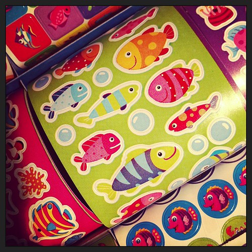 Sprucing up my planner with some cute fishy stickers. #stickers #planner #plannerd #planneraddict