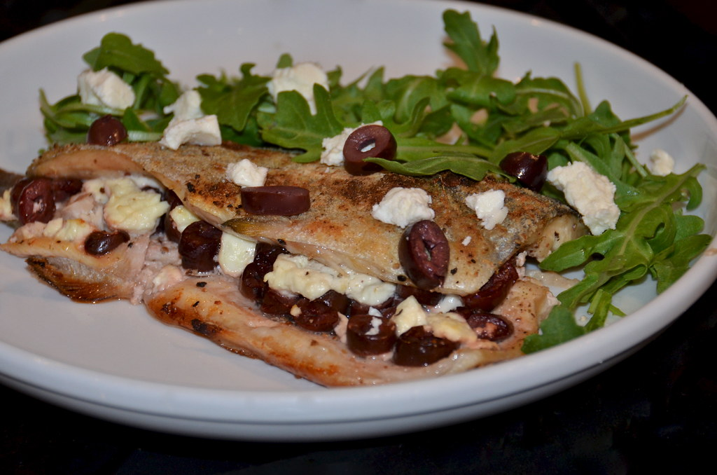 Trout with Greek Olives