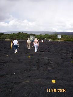 path over lava flow