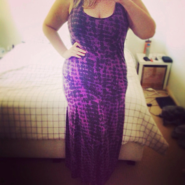 Kmart $15 purple maxi dress