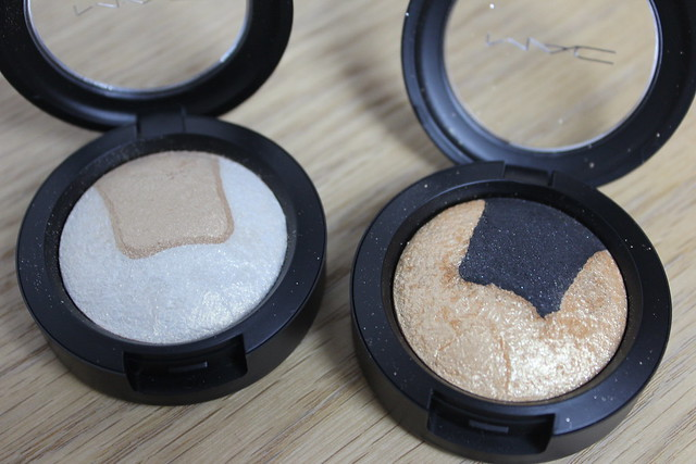 MAC Mineralize Eye Shadow Captivating and Gilded Night