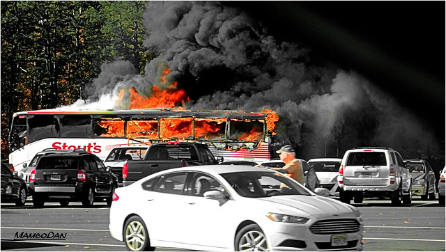 Bus Fire On The Garden State Parkway Flickr Photo Sharing