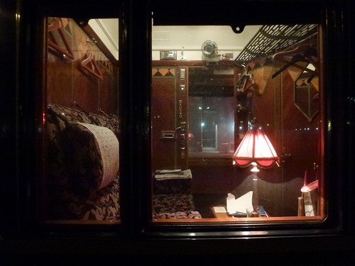 Orient Express - farewell view of our cabin at Venice