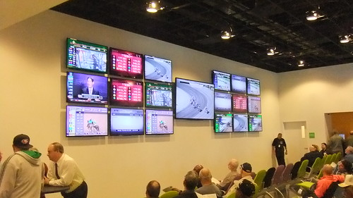 First Floor Simulcast Area With TV's On Wall