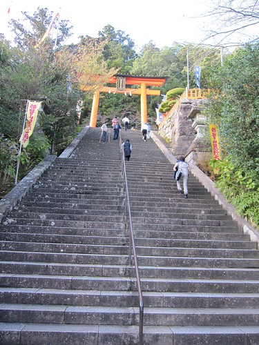 長い階段が続きます・・・那智大社 by Poran111