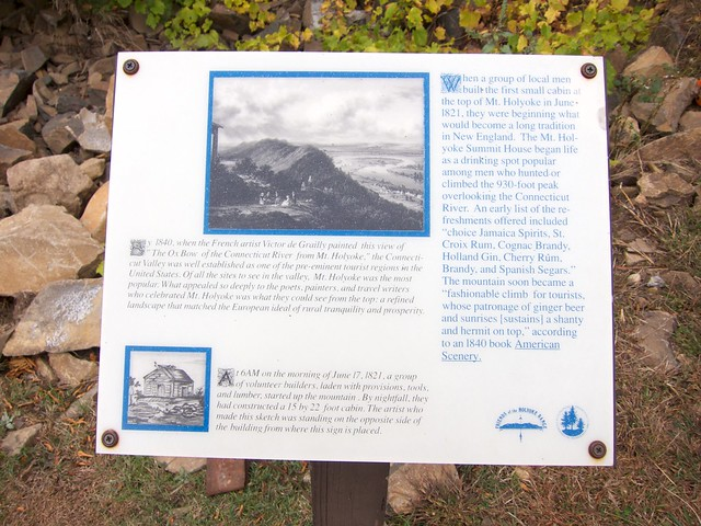 Holyoke Range, Massachusetts, Metacomet-Monadnock Trail, Mt. Holyoke, Sign