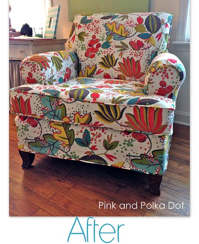 After Floral Club Chair slipcover