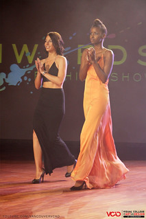 VCAD ONwards Fashion Show 2013 – Zoe Collins with one of her models