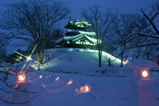 写真_冬の高田城 雪行燈めぐり2012