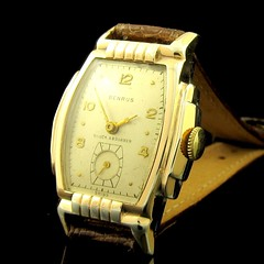 Benrus art deco watch with stepped case