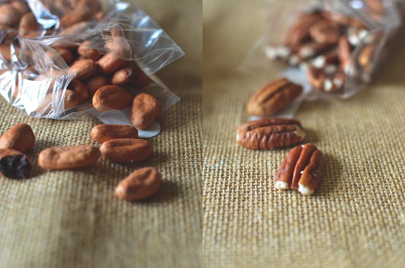 Fèves de cacao et Noix de pécan