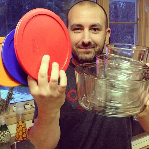 An early Merry Christmas to Pete, who asked for nothing but new Pyrex. @dadandblog