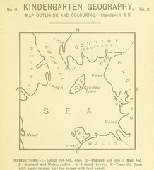 """British Library digitised image from page 17 of """"Coloured Handbook to Kindergarten Geography, etc"""""""
