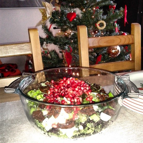 Πράσινη σαλάτα με ρόδι #foodblogging #recipe #Christmas #salad #pomegranate