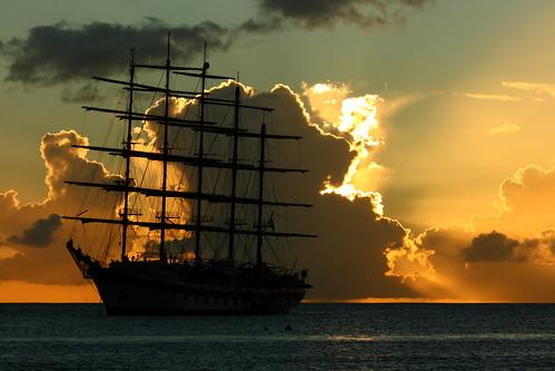 sunset stlucia gallion
