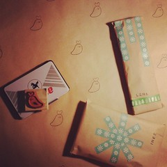 #Christmas #gift wrapping <3 #washitape #stamps