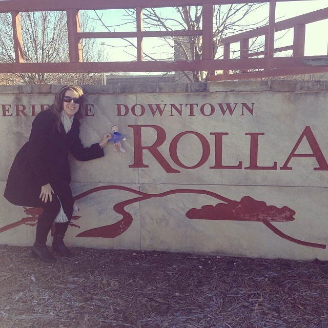 Flat Stanley arrives in Rolla, MO for a Christmas celebration. #whatidoformysonsschoolprojects #brr