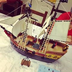 Two hours later... #pirateship #playmobil