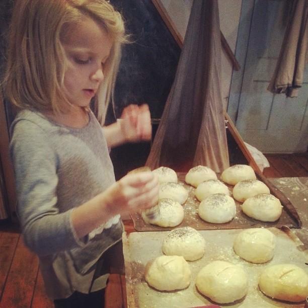 Poppy sandwich rolls.