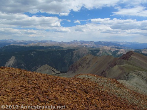 Part of the view from Electric Pass Peak, White River National Forest, Colorado