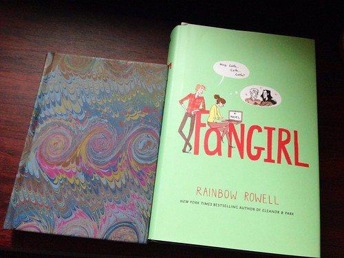 paper journal #35 (blank) next to 'Fangirl' first read for 2014