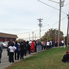 On line for early voting today...
