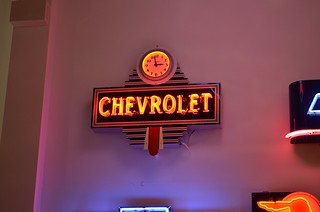 Chevy Clock Neon