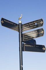 Routebord Scheveningen - The Hague