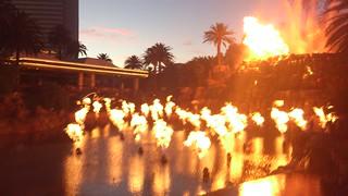 Mirageの噴火ショー