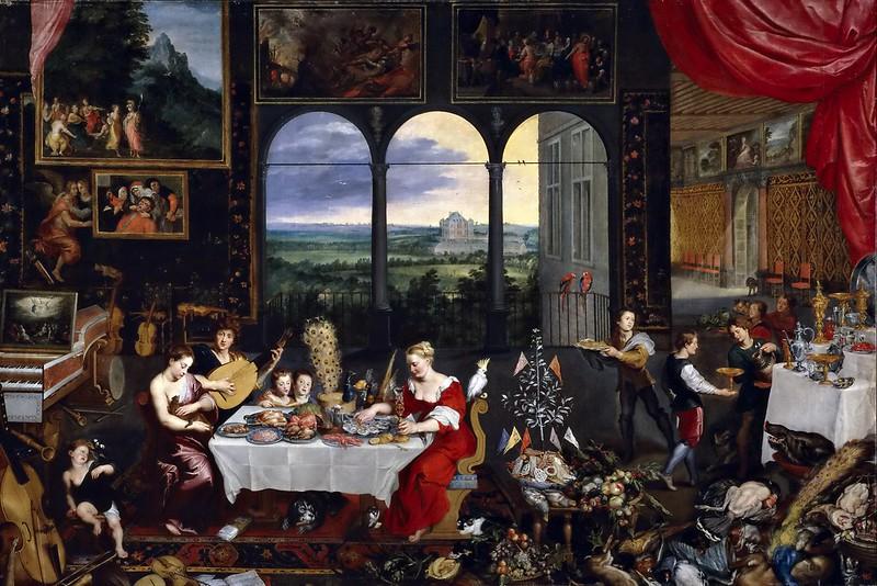 Jan Brueghel the Elder - Taste, Hearing and Touch (c.1620)