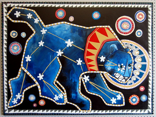 Ursa Major - Folk Art Inspired Painting