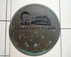 Photo of George Francis Train bronze plaque