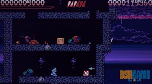 Escenario y nemigos de Super House of Dead Ninjas