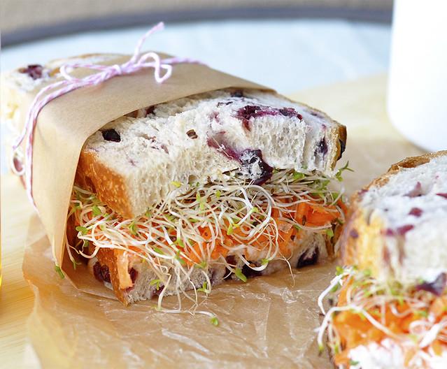 Carrot, Honey & Cream Cheese Sandwich