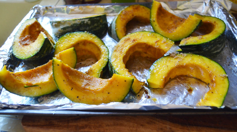 Roasted Kabocha Squash with Coconut Oil and Fried Sage via LittleFerraroKitchen.com