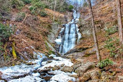 Icy Toms Creek Falls