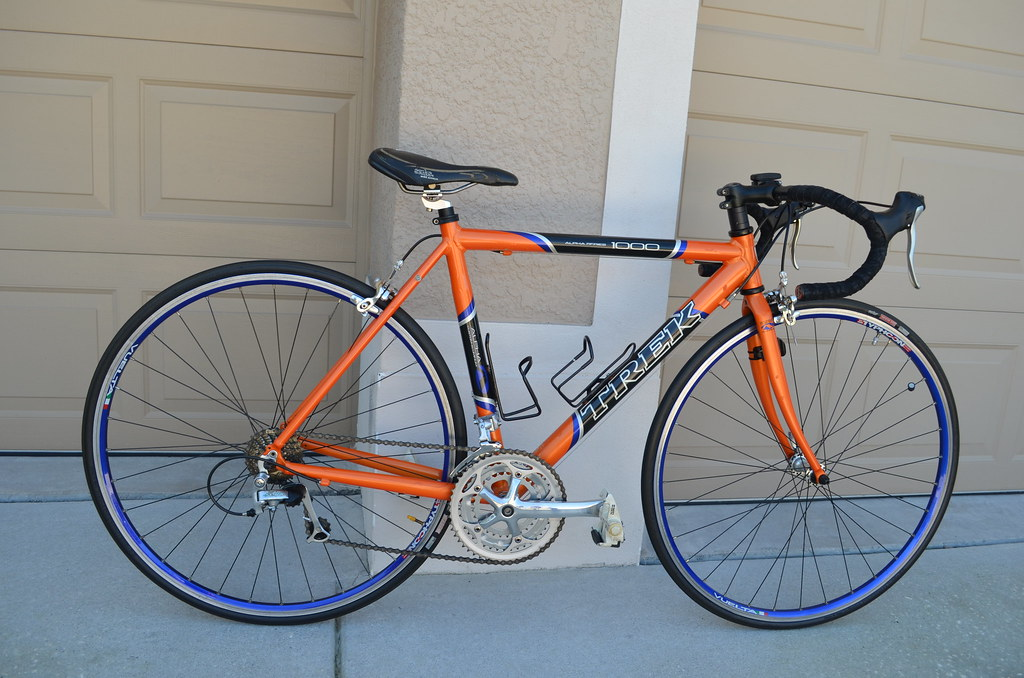 trek 1000 alpha orange blue tampa bike trader