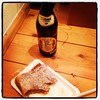 My last dinner in our German apt. Apple struedel and a beer.