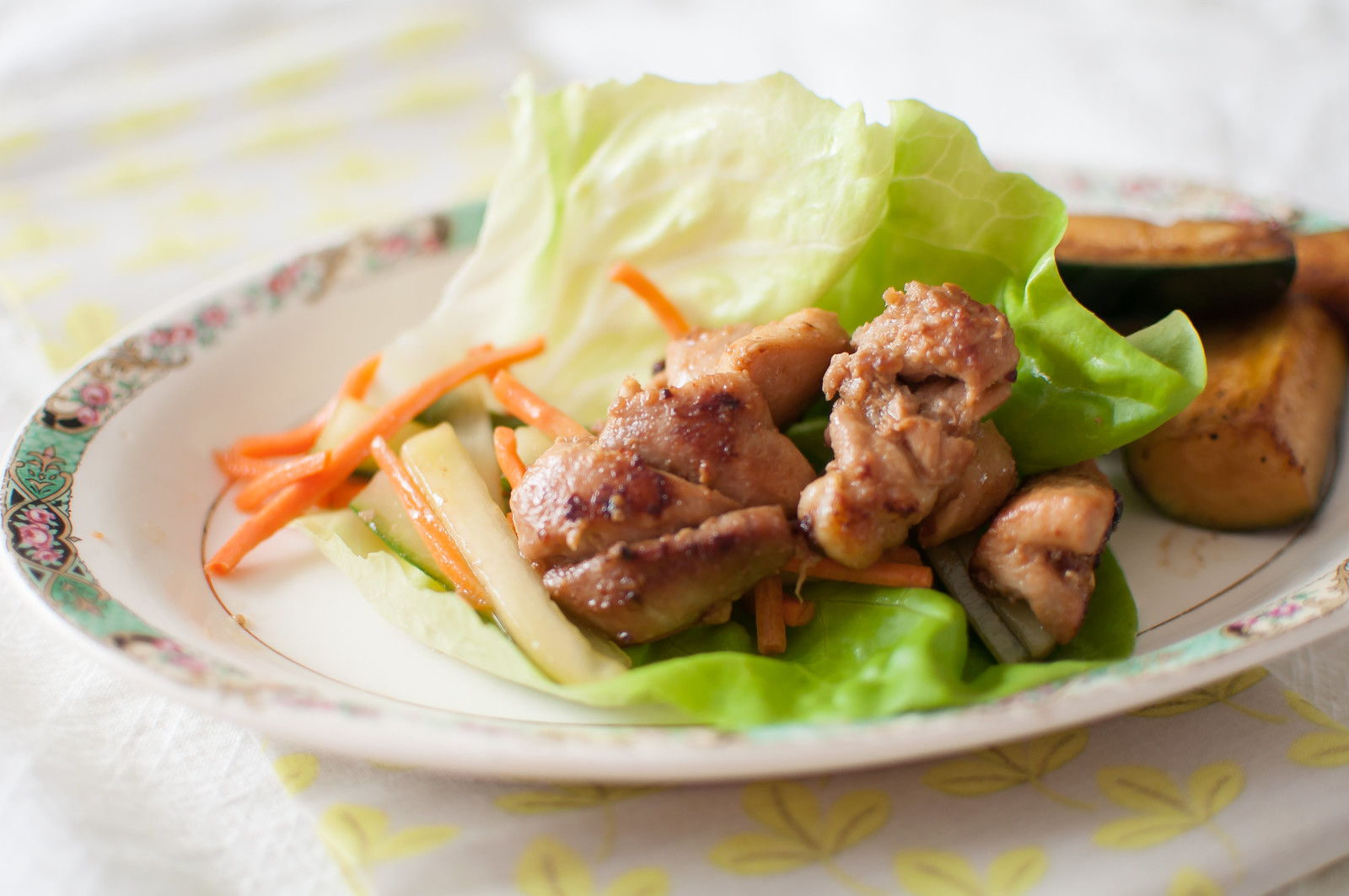 Orange Chicken Lettuce Wraps 3