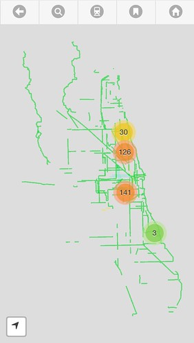 Chicago Bike Guide map error