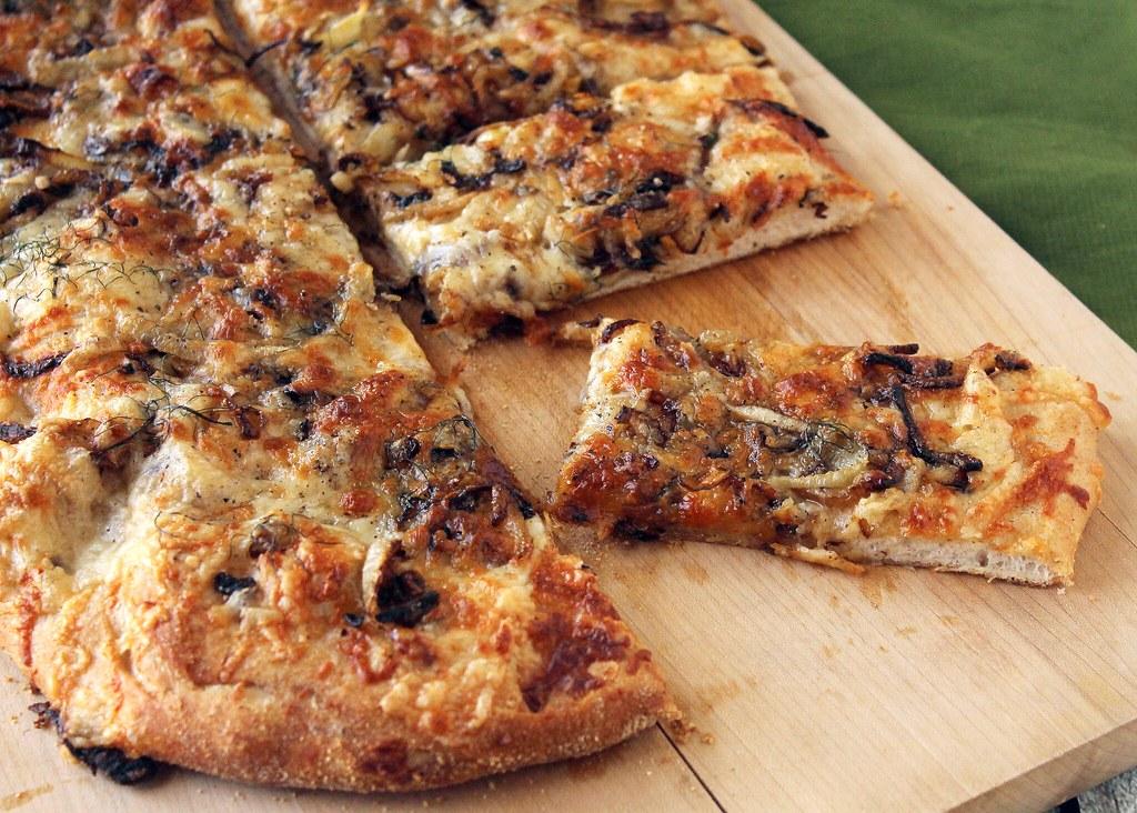 Fennel, Onion & Fontina Pizza | Love and Pride
