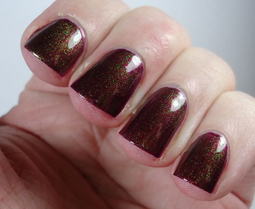 China Glaze Cowgirl Up with Avon Morphing FX Top Coat