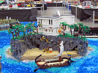 Circe's island. VirtuaLUG's Odyssey display. Brickworld 2014