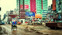 Cityscapes Under Construction Street Photography Dhaka at Mogbazar