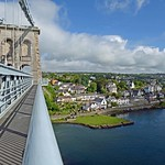 Menai Bridge from the suspension bridge, North Wales