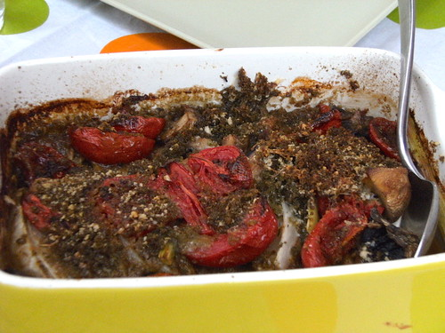 Oven baked vegetables with herbal bread crumbs - Verdure al forno con pangrattato alle erbe