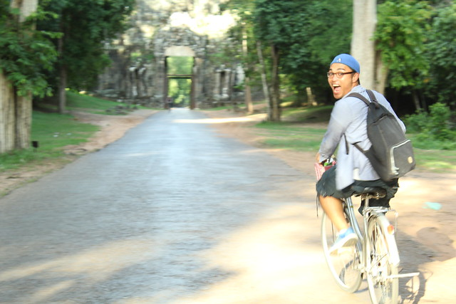 Bicycling in Angkor Wat