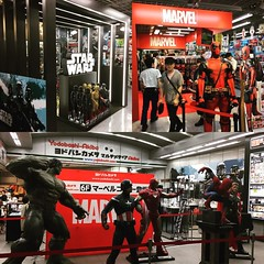 Launched Marvel & Star Wars corner@ Yodobashi Akiba #marvel #starwars #yodobashiakiba