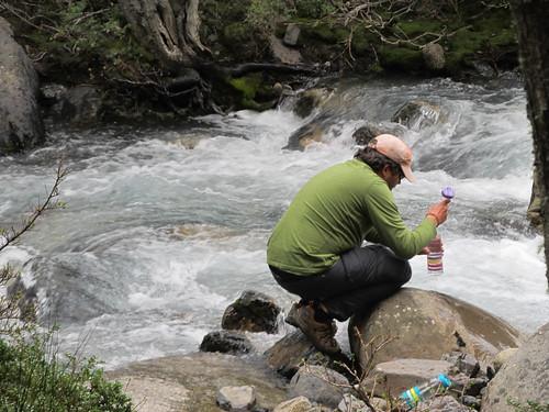 Torres del Paine: trek du W. Jour 3: remplissage des gourdes